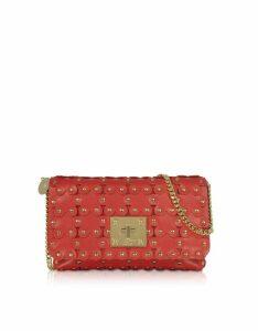 RED Valentino Designer Handbags, Flower Puzzle Genuine Leather Clutch
