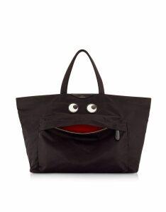 Anya Hindmarch Designer Handbags, Large Eyes Nylon Tote