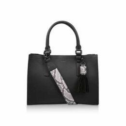 Aldo Zenawien - Black Tote Bag With Detachable Snake Print Strap