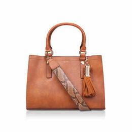 Aldo Zenawien - Tan Tote Bag With Detachable Snake Print Strap