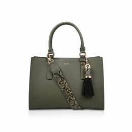Aldo Zenawien - Khaki Tote Bag With Detachable Snake Print Strap
