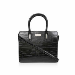 Carvela Fia Hardwear Strip Tote - Black Croc Effect Tote Bag