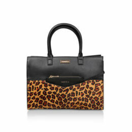 Carvela Flash Large Leopard Tote - Black And Leopard Print Tote Bag