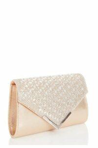 Quiz Gold Jewel Cluster Envelope Bag