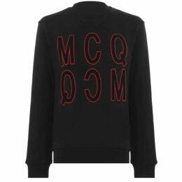 McQ Alexander McQueen Velvet Logo Sweatshirt