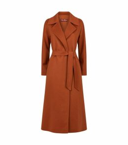 Long Cashmere Belted Coat