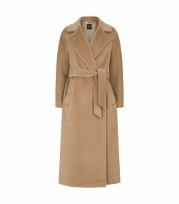 Wool-Blend Corona Wrap Coat