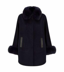 Fur Collar Cape