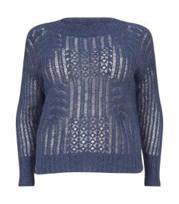Knitted Metallic Sweater