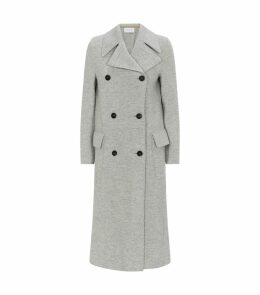 Boiled Wool Double-Breasted Coat