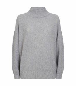 Lurex Funnel Neck Sweater