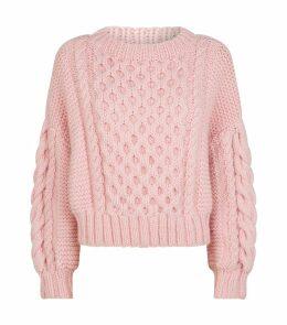 Wool Aran-Knit Sweater