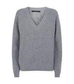 Jayla Wool-Cashmere V-Neck Sweater