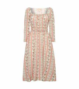 Principessa Floral Silk Dress