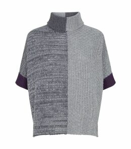 Colour-Block Sequin Sweater