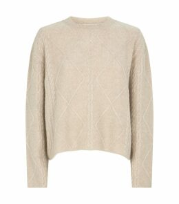 Cable-Knit Cashmere-Silk Sweater