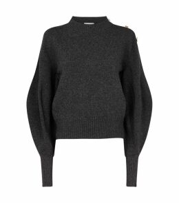 Crystal-Embellished Wool Sweater