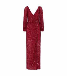 Ida Cold-Shoulder Sequin Gown