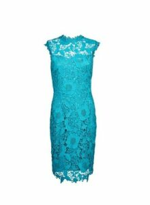 Womens **Showcase Teal 'Erica' Lace Dress- Blue, Blue