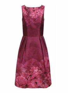 Womens *Chi Chi London Burgundy Floral Printed Midi Dress- Burgundy, Burgundy