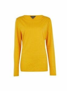 Womens **Tall Yellow Long Sleeve Top- Yellow, Yellow