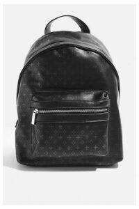 Womens **Luna Monogram Backpack By Skinnydip - Black, Black