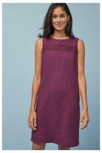 Womens Next Plum Linen Blend Shift Dress -  Purple