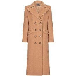 Anastasia  Camel Womens Double Breasted Cashmere Coat  women's Coat in Beige