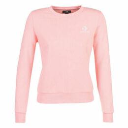 Converse  STAR CHEVRON EMBROIDERED CREW  women's Sweatshirt in Pink