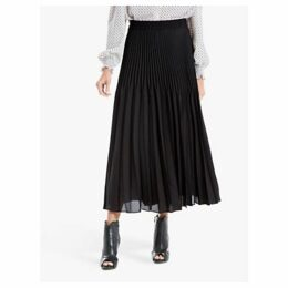 Max Studio Pleated Skirt, Black