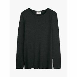 hush Second Skin Long Sleeve T-Shirt, Charcoal Marl