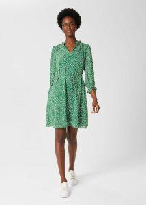 Christine Wool Dress Orange Multi