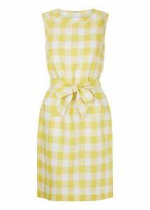 Amalfi Linen Dress Yellow White