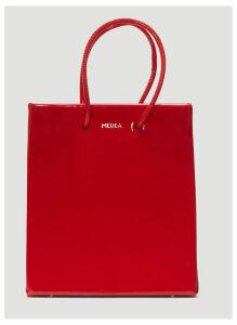 Medea Short Vinile Shopper Bag in Red size One Size