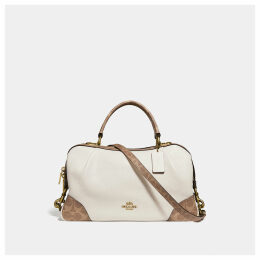 Coach Lane Satchel With Signature Canvas Blocking