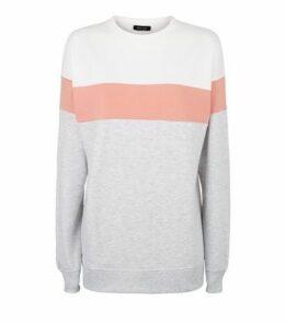 Pale Pink Colour Block Sweatshirt New Look