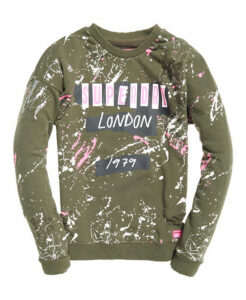 Superdry Splatter Punk Crew Jumper