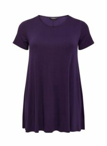 Purple Scoop Swing Tunic, Purple
