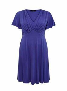 **Scarlett & Jo Purple Fit & Flare Dress, Purple