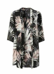 Neutral Palm Print Kimono, Beige/Natural