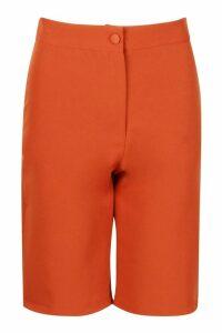 Womens Tailored City Shorts - orange - 14, Orange
