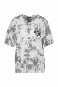 Womens Stereotypical Tie Dye Graphic T-Shirt - grey - M, Grey