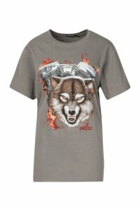 Womens Biker T-Shirt - grey - M, Grey