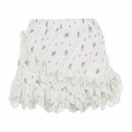 LoveshackFancy Emma Midi Skirt