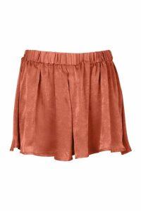 Womens Plus Satin Flippy Short - pink - 20, Pink