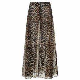 Ganni Leopard Print Maxi Skirt