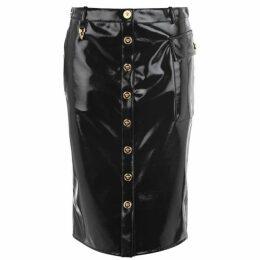 Versace Medusa Pvc Midi Skirt