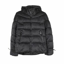 Quilted Hooded Puffer Jacket with Pockets