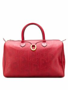 Christian Dior Pre-Owned 1990's patterned tote bag - Red
