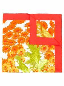 Hermès Pre-Owned Fleurs et Carlines II scarf - Orange